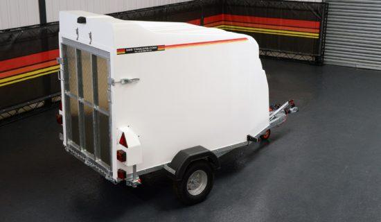 Rear shot of TVA1000 Trailer Box Van from SBS Trailers Ltd