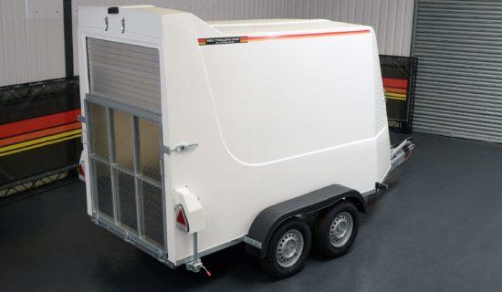 Rear shot of TVA2600 Box Trailer Van from SBS Trailers Ltd