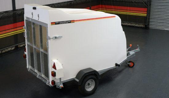 Rear of TVA750 Box Trailer Van from SBS Trailers Ltd